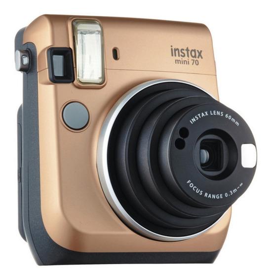Câmera Instantânea Fujifilm Instax Mini 70 Gold - Promoção