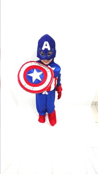 Disfraz De Capitan America Marvel Para Niño Super Heroe