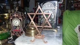 Estrela De Davi Em Bronze 25x17cm Peso 873 G