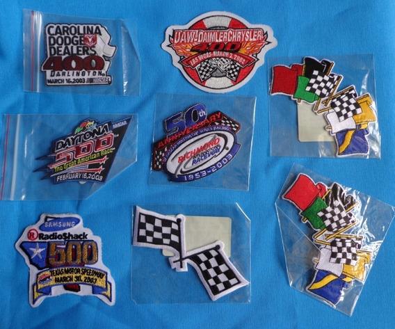 8 Parches Bordados Daytona Nascar Originales