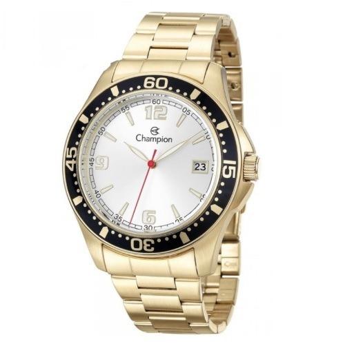 Relógio Champion Masculino Dourado Caixa Aço Original