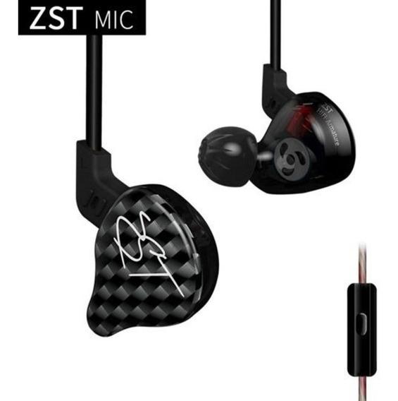 Fone In Ear Kz Zst Microfone Retorno Monitor Palco Esportes