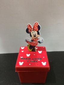 20 Caixinha Acrilico 3d Minnie Vermelha Personalizada