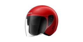 Capacete Moto Honda Aberto Hjs - Vermelho