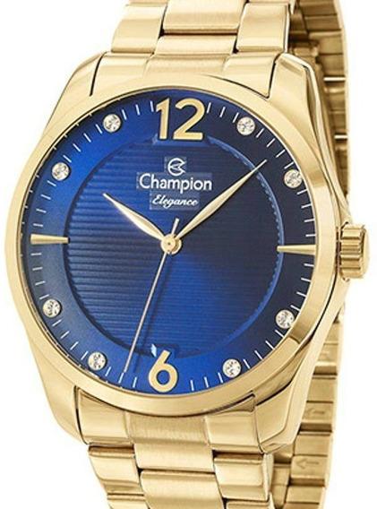 Relógio Champion Feminino Dourado Cn27607a - ( Nfe )