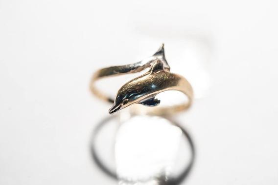 Anillo Oro Ley 14k De Delfín