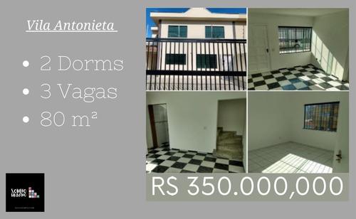 Casa 2 Dorms 3 Vagas Vila Antonieta