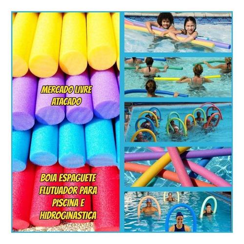 Flutuador Macarrão Boia P/piscina Natação Kit Com 50 +brinde