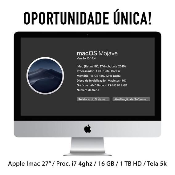 Apple iMac 27 / I7 4ghz / 16 Gb / 1 Tb Drive / 5k