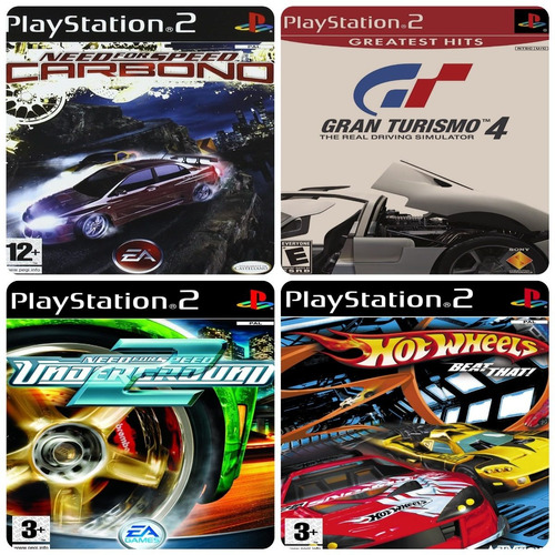Juegos Iso De Play 2 Combo De 4 Juegos Carrera De Autos Mercado Libre