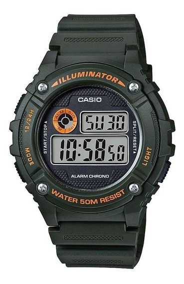 Relógio Masculino Casio Digital Esportivo W-216h-3bvdf