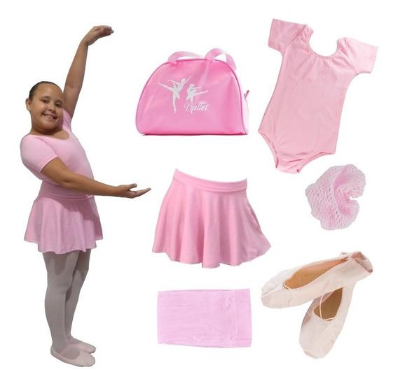 Roupa De Ballet Completa, C/ Bolsa Criança Do 02 Ao 12 Ano