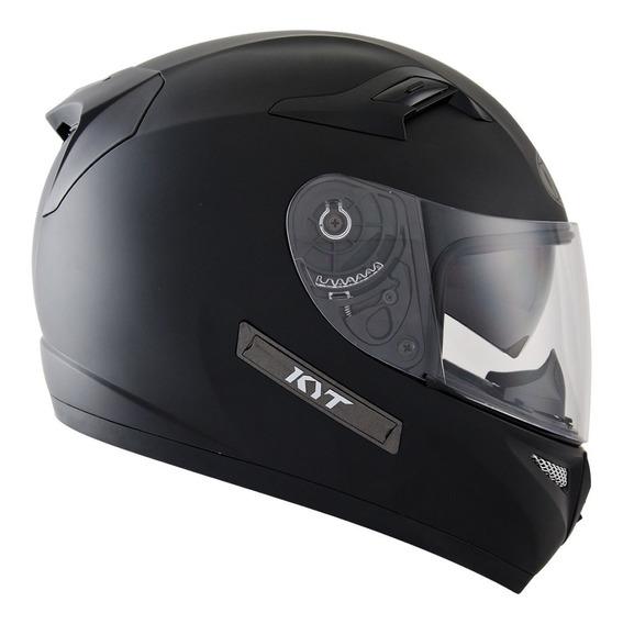 Casco Moto Kyt Sv Negro Brillo Visor Interno Sol Motoscba