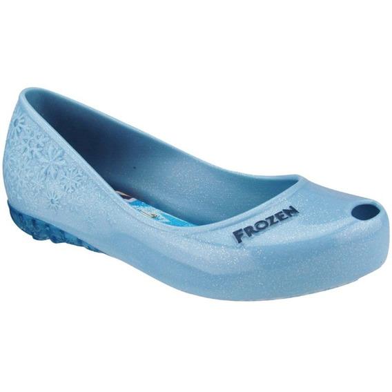 Sapatilha Frozen Com Luz De Led Grendene Kids 21580 - Azul