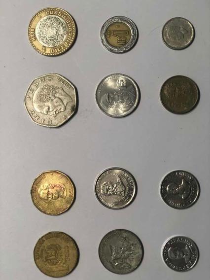 Monedas Antiguas De Mexico Y Paraguay Buena Condición