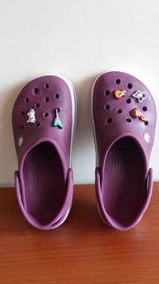 Zapatos Crocs Para Niña Talla 36 Color Morado Originales
