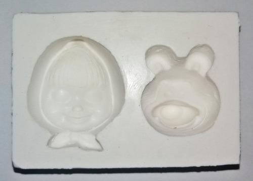 Imagem 1 de 2 de Molde De Silicone Masha E O Urso Pasta Americana