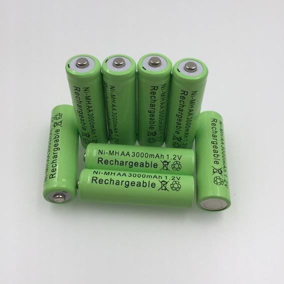 Kit 4 Baterias Ni-mh 1,2 V Aa Recarregável 3000mah 1,2