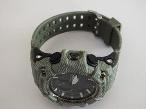 Relógio Digital Masculino Cor Verde Militar