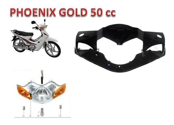Farol E Acabamento Do Farol Azul Phoenix Gold 50cc Shineray