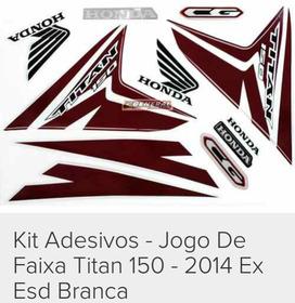 Kit Adesivo Titan 2014 Branca