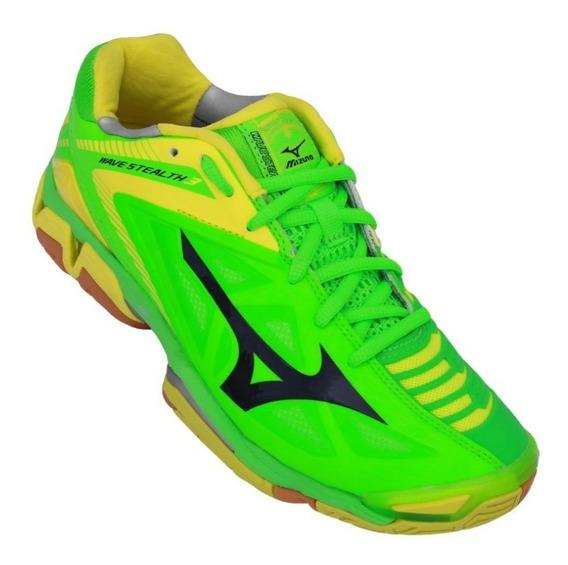Tênis Mizuno Wave Stealth 3 Verde/amarelo Tamanho Grande +nf