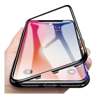 Funda Protector Magnetica Aluminio iPhone 7 8 Plus X Xs