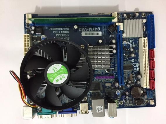 Kit Placa Mãe 775 Ddr3 + Dual Core 5400 + Cooler + 2gb Ddr3