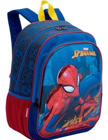 Kit Mochila 3d Spider Man Infantil Com Lancheira E Estojo Se