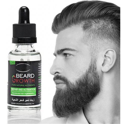 Óleo Para Crescimento Barba, Bigode E Cabelo, Envio Imediato