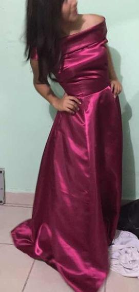 Vestido De Noche Rosa Estilo Princesa