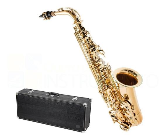 Saxofone Alto Laqueado Eb Mi Bemol Completo + Frete Grátis