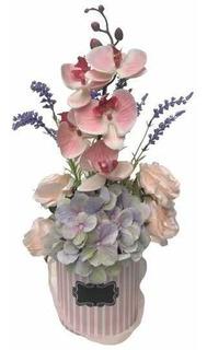 Arreglo De Flores Artificiales Orquídea De Excelente Calidad