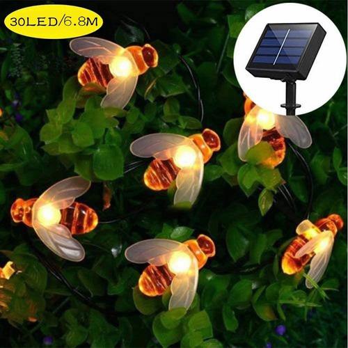 Tira De Luces Led Solares Abejas Luz Cadena 30led/6.8m Luces