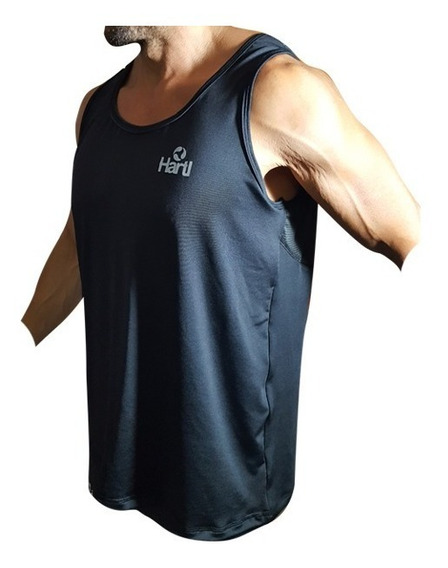 Id220 Remera Sin Mangas Musculosa Amplia Hartl Suelta Dry