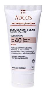 Adcos Filtro Solar Fps40 Gel Creme Tonalizante Peach 50g