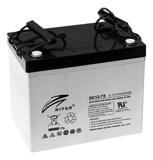 Batería Ciclo Profundo Ritar Carbono Super Ciclado 12v 75ah