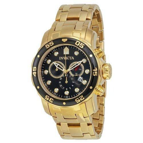 Relógio Invicta 0072 Pro Diver 48mm Banhado A Ouro 18k