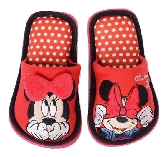 Pantufla Mimi Minnie Mouse Pijama Pantuflas Acojinada Niña