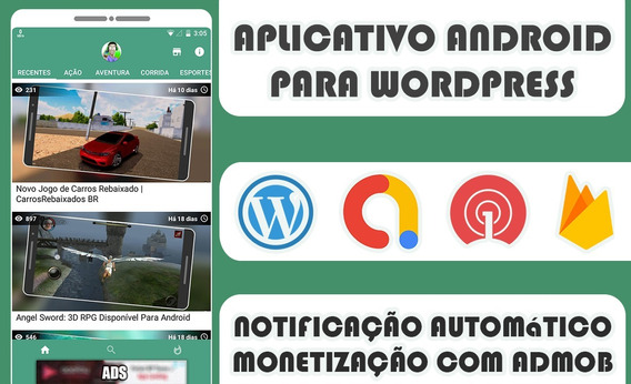 Aplicativo Android Nativo Pro Para Sites Wordpress