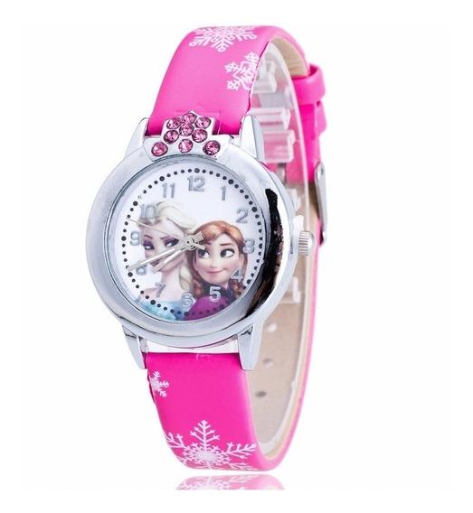 Relógio Frozen Pulseira Pink Rg011c Promoção!!!
