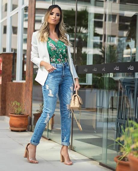 Calça Jeans Feminina Destroyed Doce Flor