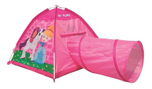 Carpita Tunel Pony Tent With Tunnel 8341 Play 10 - Luico