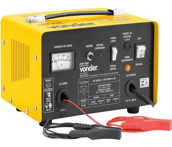 Carregador De Bateria Vonder Cbv-950 127v, Preto/amarelo