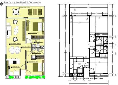 Apartamento En Venta De 2hab Y 2baños En Punta Cana