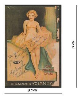 Cartão Postal Tipográfico Yolanda Cia Souza Cruz 1938 - 0tt0