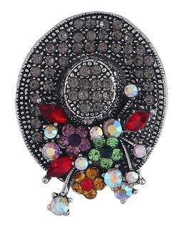 Broche De Cristal Con Diseño De Sombrero Hipster, Elegante,