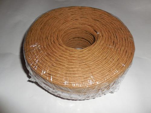 Hilo Cuerda Papel Marrón Kraft Ovillo *200mts. 3mm