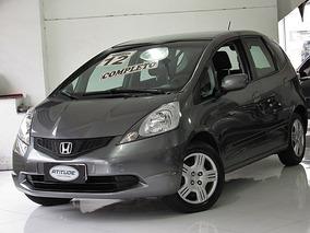 Honda Fit 1.4 Dx Flex 2012 Cinza Completo