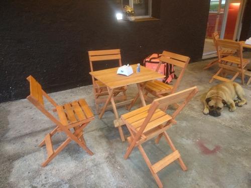Imagen 1 de 11 de Juego De Mesa Con 4 Sillas Para Barbacoa, Bar, Restaurante,